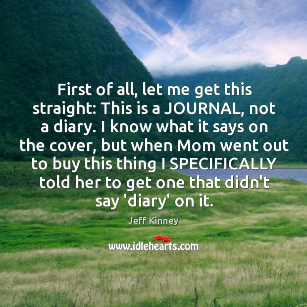 First of all, let me get this straight: This is a JOURNAL, Image