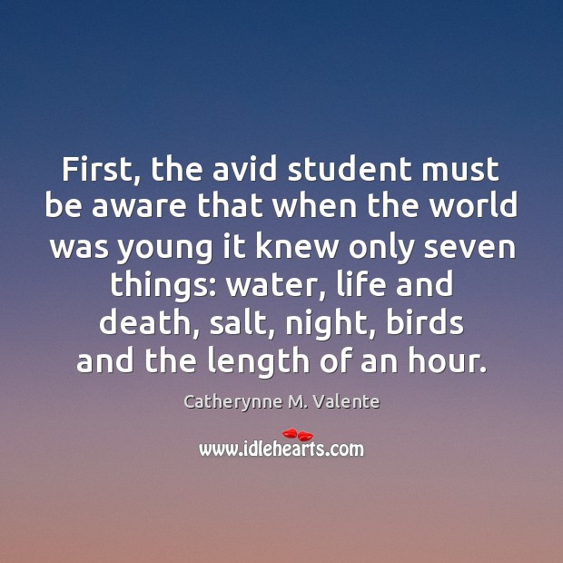 First, the avid student must be aware that when the world was Image