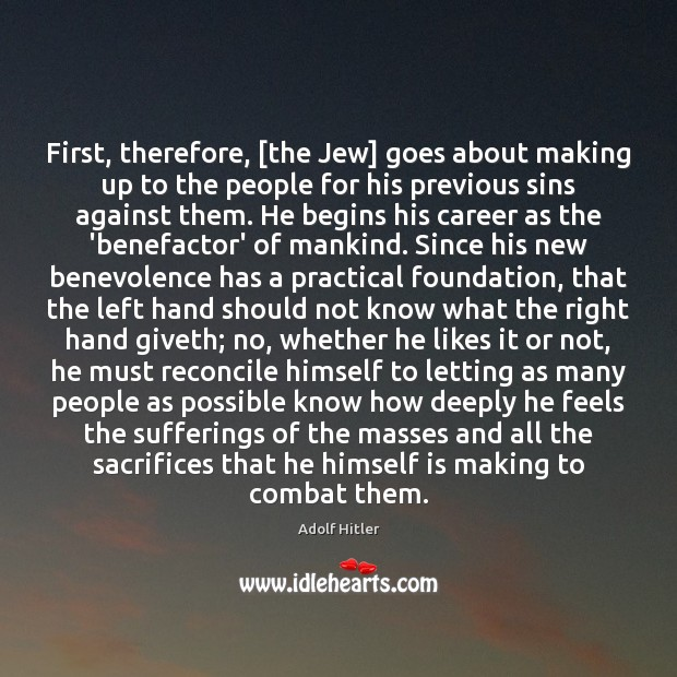 First, therefore, [the Jew] goes about making up to the people for Image