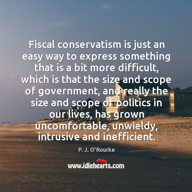 Image, Fiscal conservatism is just an easy way to express something that is a bit more difficult