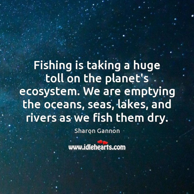 Image, Fishing is taking a huge toll on the planet's ecosystem. We are