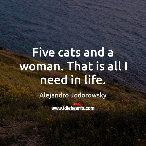 Five cats and a woman. That is all I need in life. Image