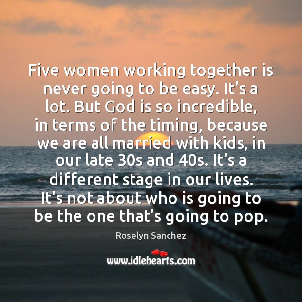 Five women working together is never going to be easy. It's a Image