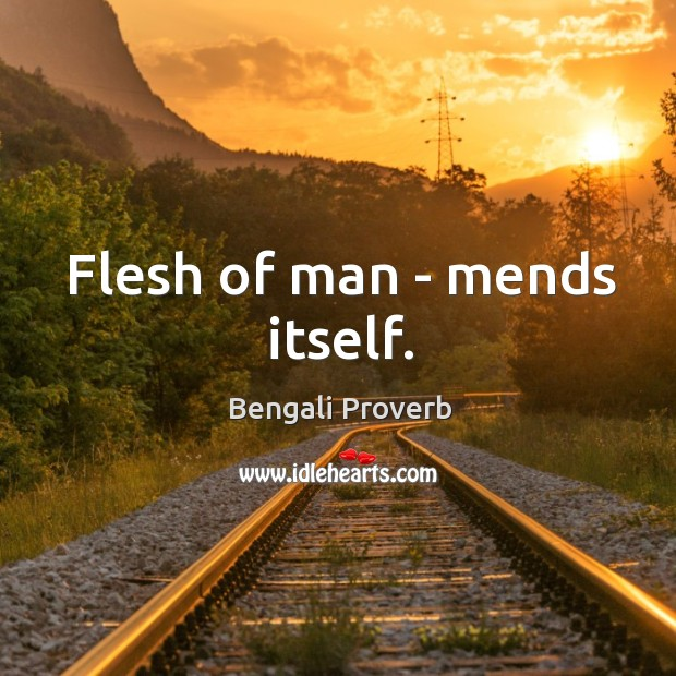 Flesh of man – mends itself. Bengali Proverbs Image