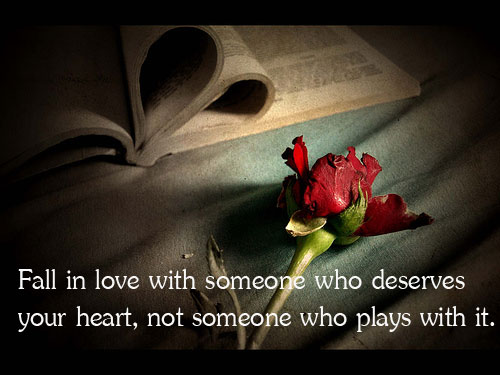 Image, Fall in love with someone who deserves your heart