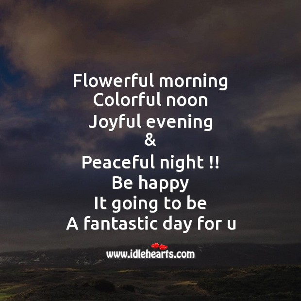 Flowerful morning colorful noon Image