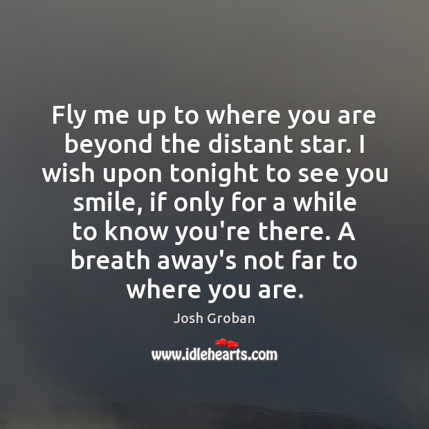 Fly me up to where you are beyond the distant star. I Image