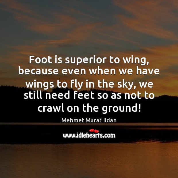 Foot is superior to wing, because even when we have wings to Image