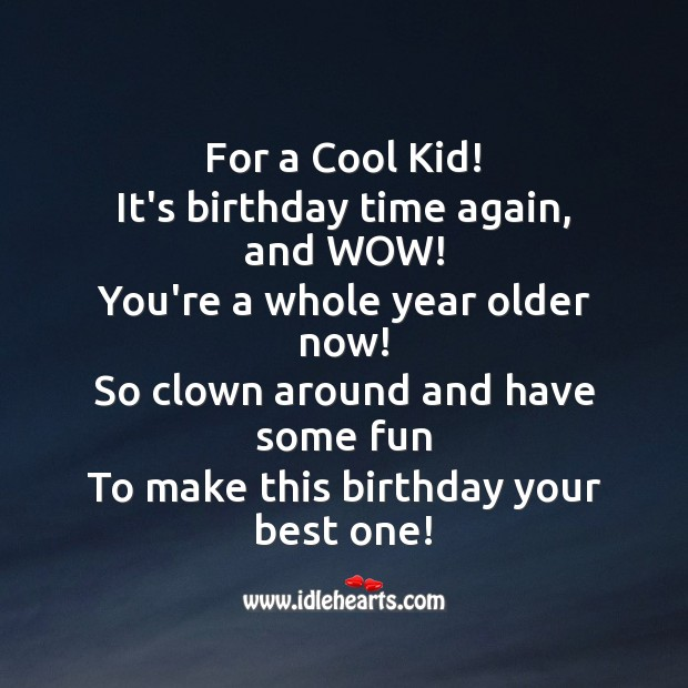 For a cool kid! Image