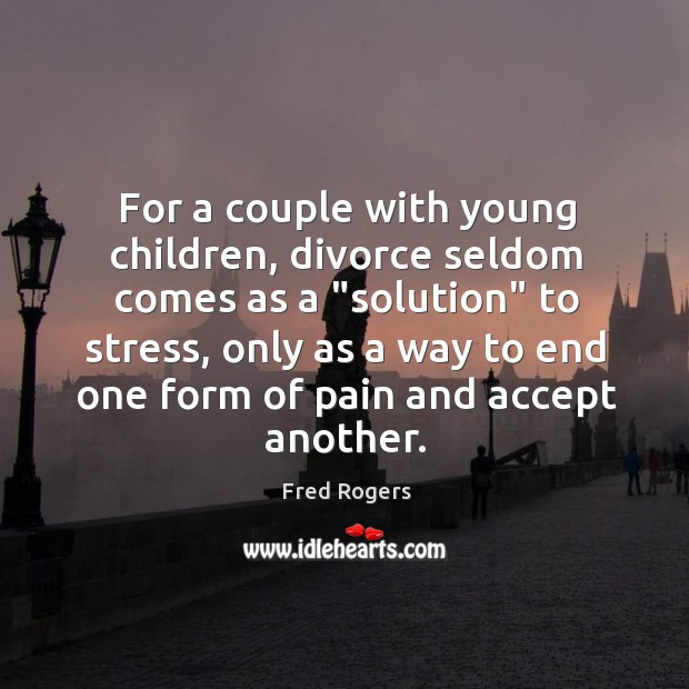 """Image, For a couple with young children, divorce seldom comes as a """"solution"""""""