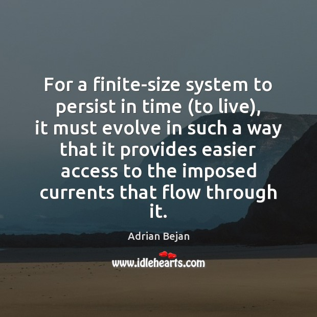 Image, For a finite-size system to persist in time (to live), it must