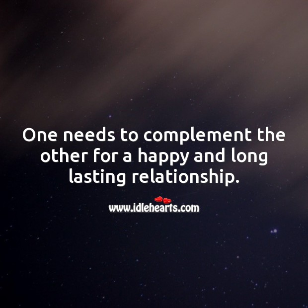 For a happy and long lasting relationship one needs to complement the other. Relationship Tips Image