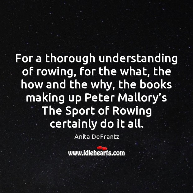 Image, For a thorough understanding of rowing, for the what, the how and
