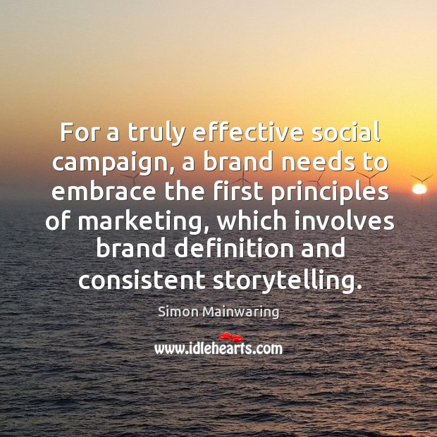For a truly effective social campaign, a brand needs to embrace the Image