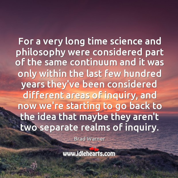 Image, For a very long time science and philosophy were considered part of