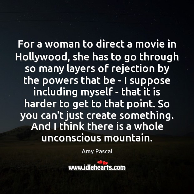 Image, For a woman to direct a movie in Hollywood, she has to
