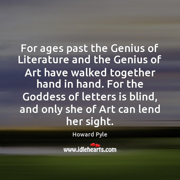 For ages past the Genius of Literature and the Genius of Art Image