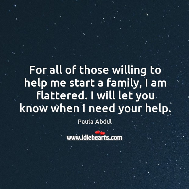 For all of those willing to help me start a family, I am flattered. I will let you know when I need your help. Image