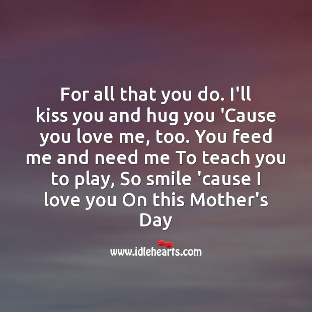 For all that you do. Mother's Day Quotes Image