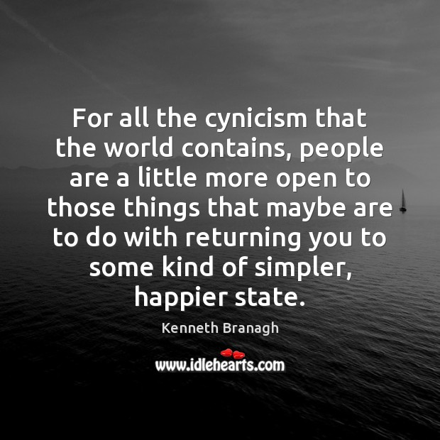For all the cynicism that the world contains, people are a little Image