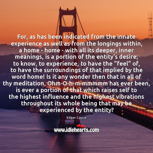 For, as has been indicated from the innate experience as well as Image