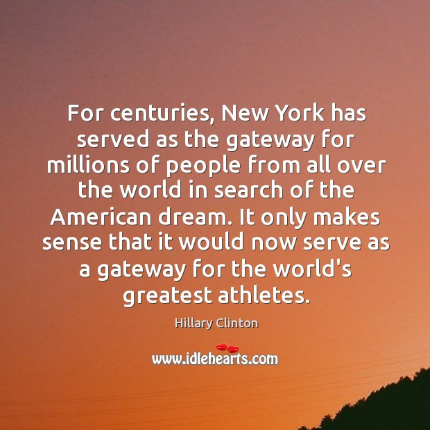 For centuries, New York has served as the gateway for millions of Image