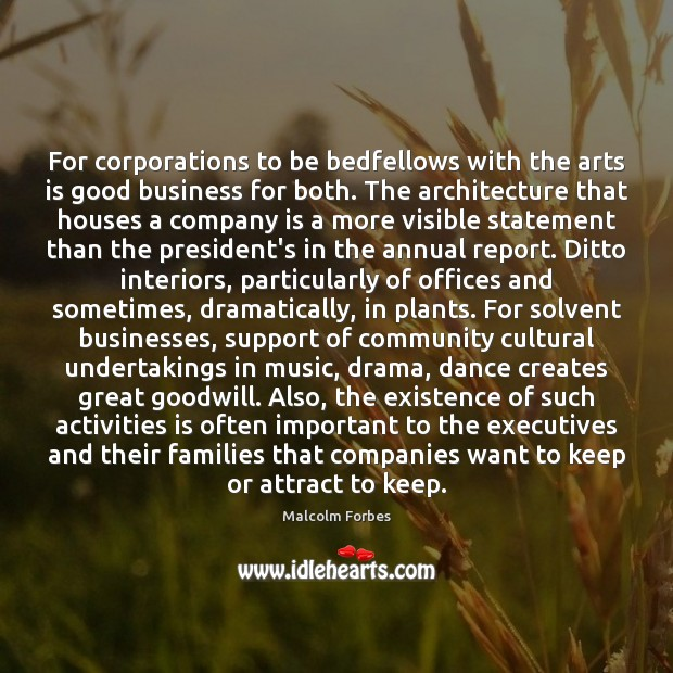 Image, For corporations to be bedfellows with the arts is good business for