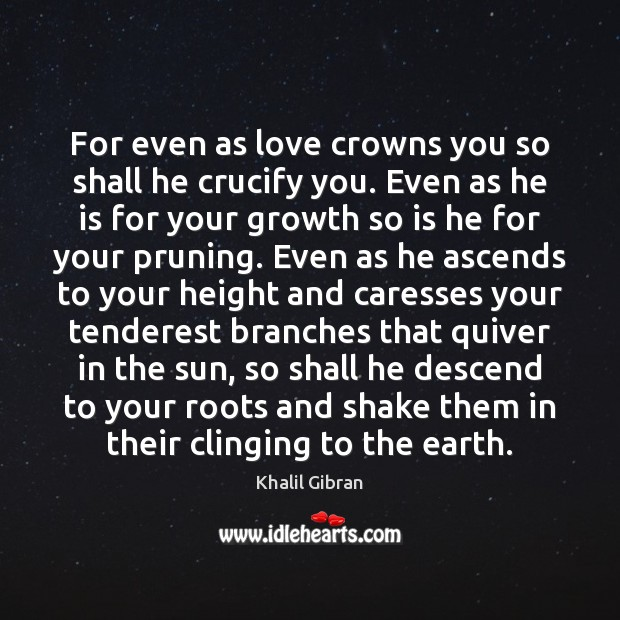 For even as love crowns you so shall he crucify you. Even Image