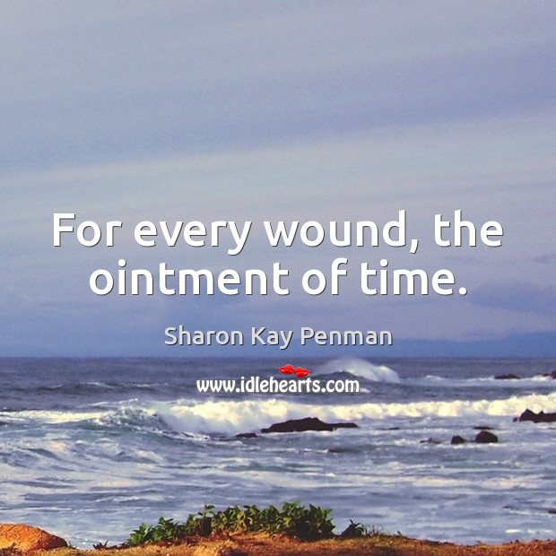 For every wound, the ointment of time. Sharon Kay Penman Picture Quote