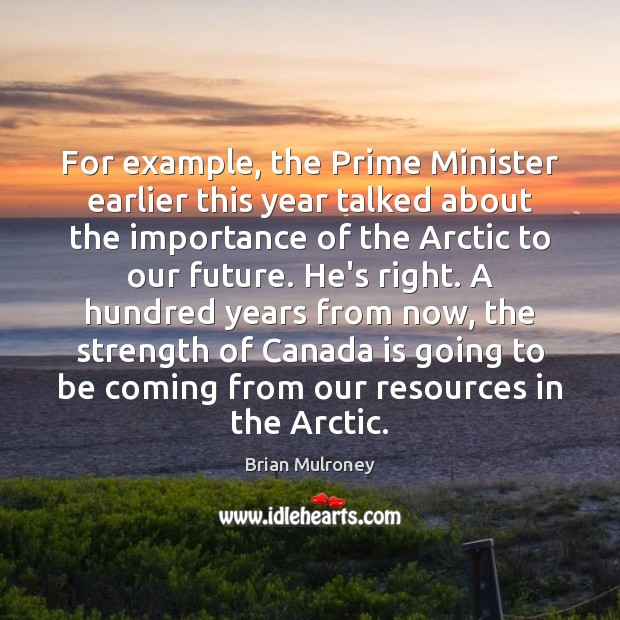 Image, For example, the Prime Minister earlier this year talked about the importance