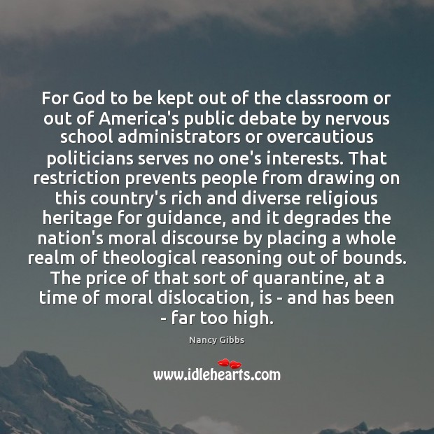 For God to be kept out of the classroom or out of Image