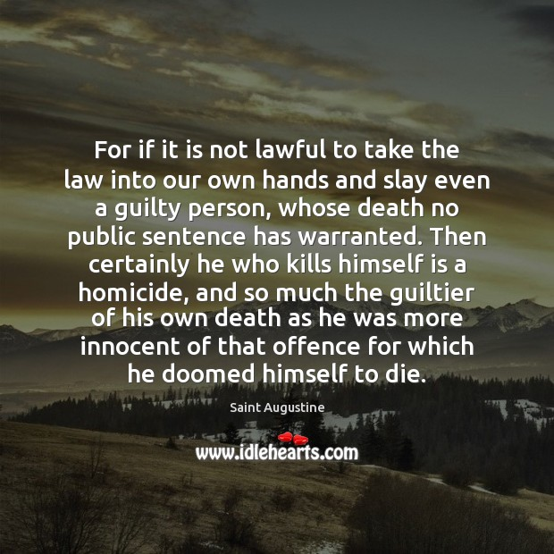 Image, For if it is not lawful to take the law into our