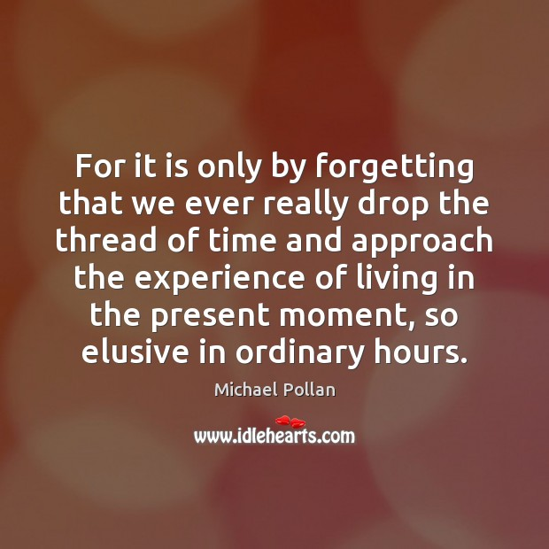 For it is only by forgetting that we ever really drop the Image