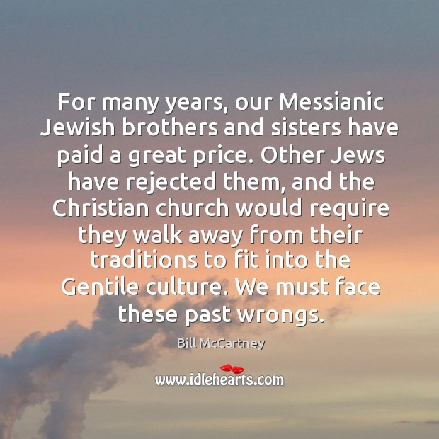Image, For many years, our messianic jewish brothers and sisters have paid a great price.