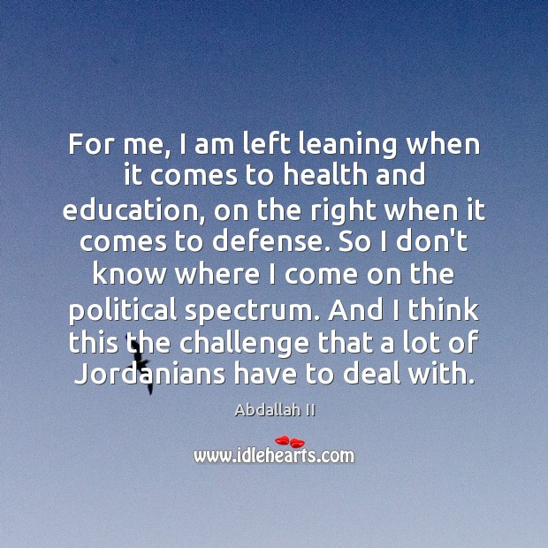 Image, For me, I am left leaning when it comes to health and