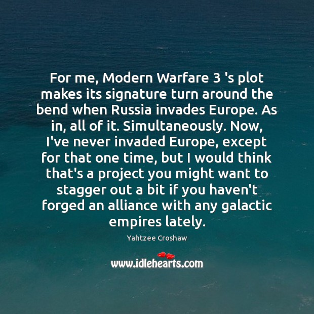 Image, For me, Modern Warfare 3 's plot makes its signature turn around the