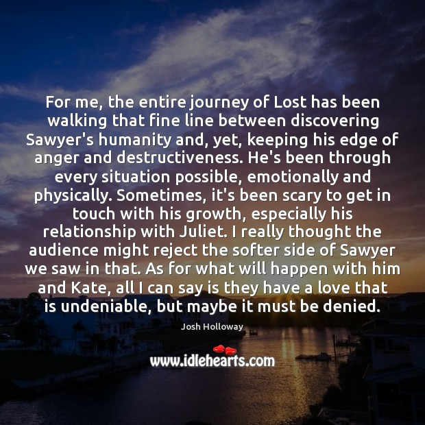 For me, the entire journey of Lost has been walking that fine Image