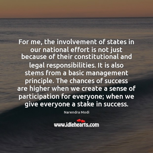 Image, For me, the involvement of states in our national effort is not