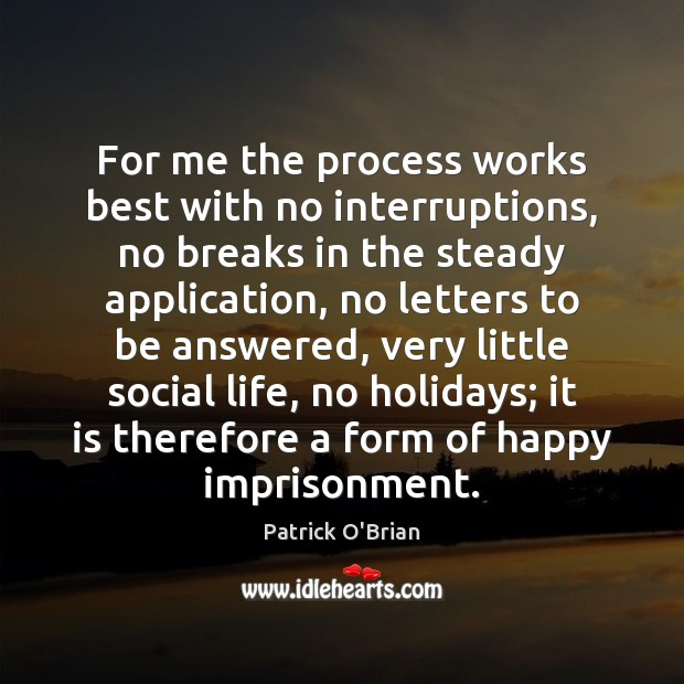 For me the process works best with no interruptions, no breaks in Image