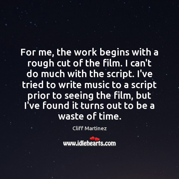 Picture Quote by Cliff Martinez