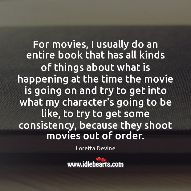 For movies, I usually do an entire book that has all kinds Image