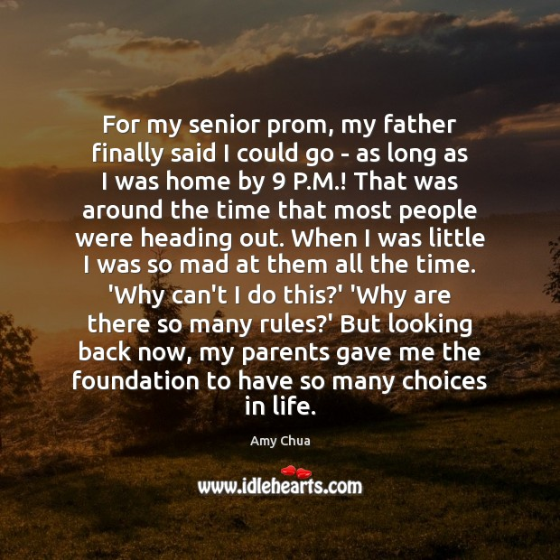 For my senior prom, my father finally said I could go – Image
