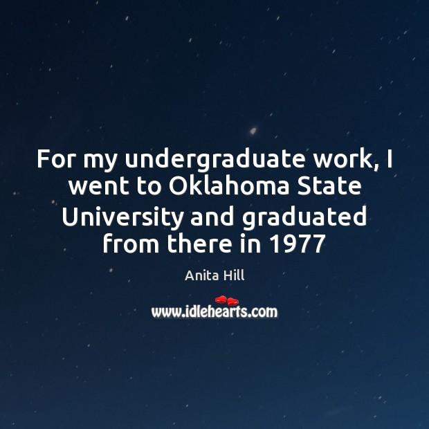 Image, For my undergraduate work, I went to Oklahoma State University and graduated