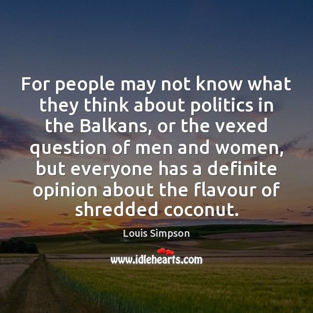 For people may not know what they think about politics in the Image