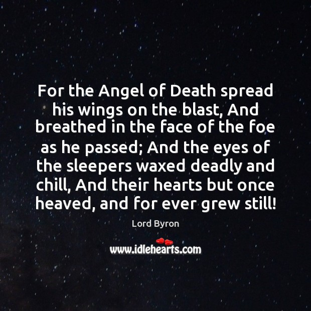 Image, For the Angel of Death spread his wings on the blast, And