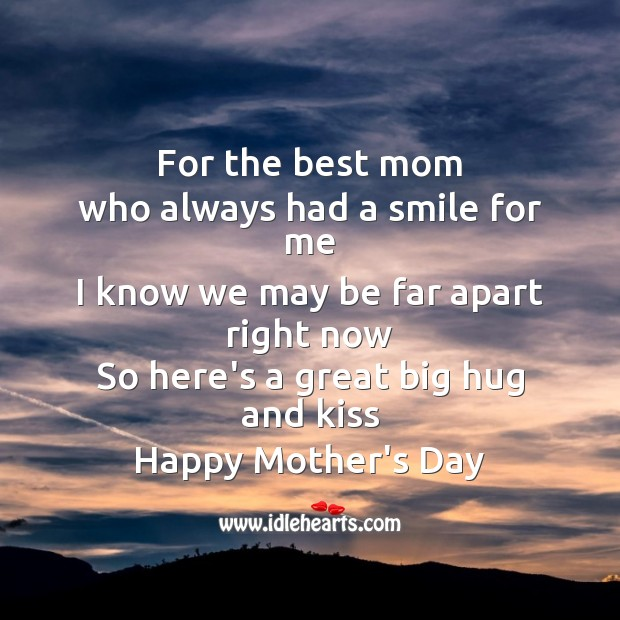 For the best mom Mother's Day Quotes Image