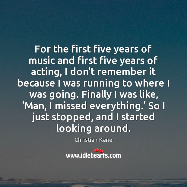 For the first five years of music and first five years of Image
