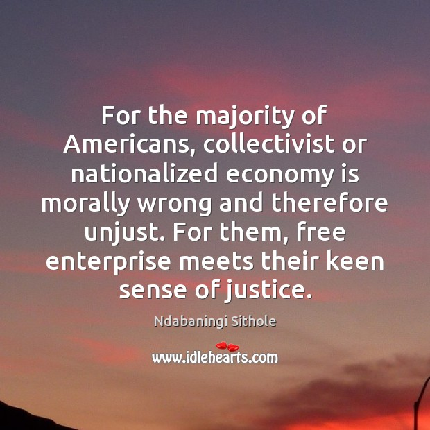 Image, For the majority of Americans, collectivist or nationalized economy is morally wrong
