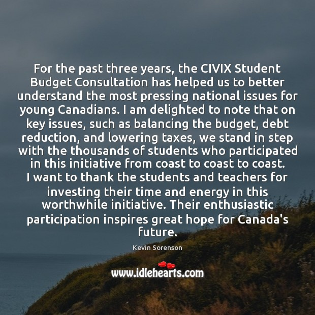 For the past three years, the CIVIX Student Budget Consultation has helped Image
