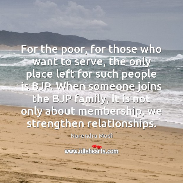 Image, For the poor, for those who want to serve, the only place